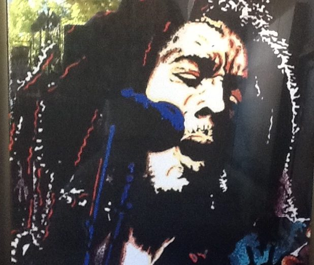 Bob Marley 3 design Fabric printed